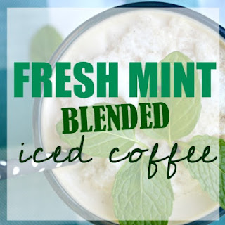 Fresh Mint Blended Iced Coffee . Yield's 2 iced coffees.