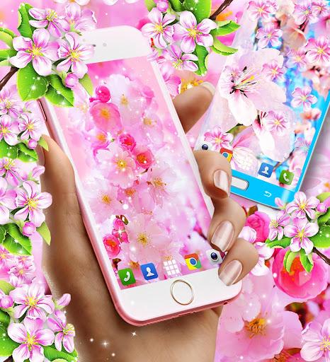 sakura flowers live wallpaper screenshot 3