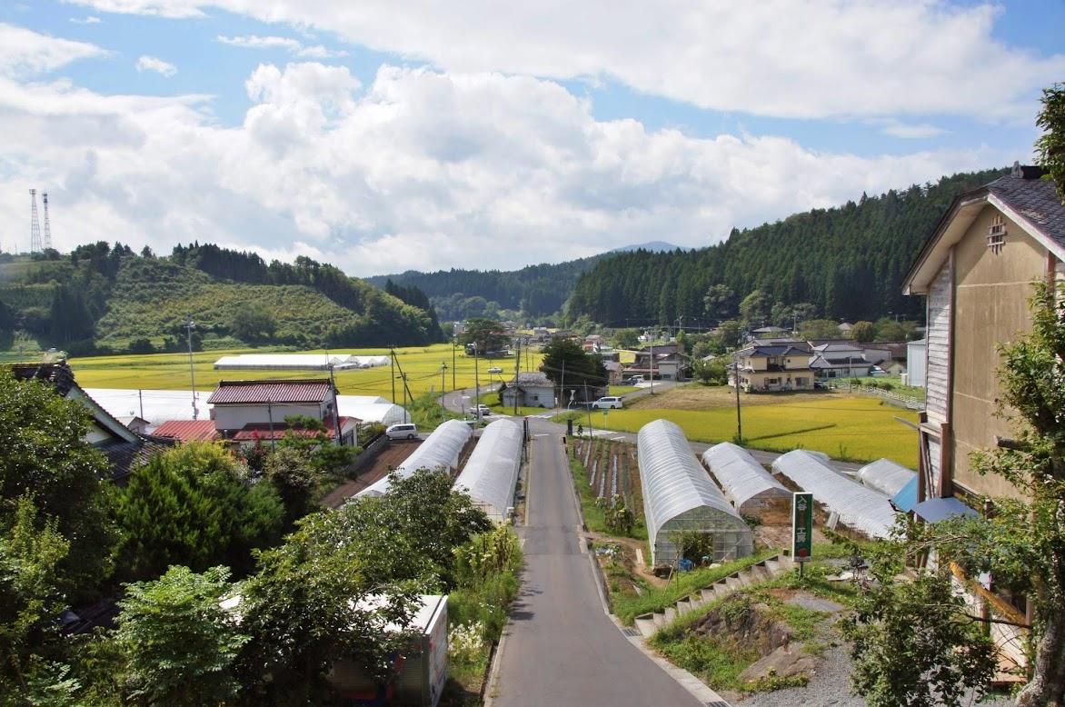 入谷中学校から見た地元の風景