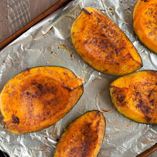 Roasted Kabocha Squash with Cinnamon.