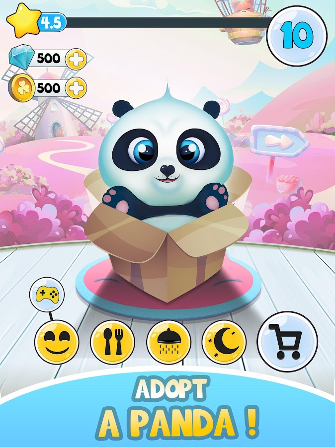 Pu - Cute giant panda bear, baby pet care game- screenshot