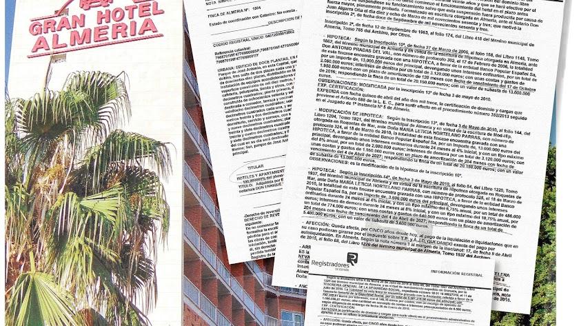 El Gran Hotel, que cerró en 2014, tiene múltiples cargas y gravámenes según se desprende de las notas del Registro de la Propiedad.