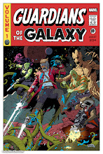 Photo: GUARDIANS OF THE GALAXY. 2016. Ink(ed by Joe Rivera) on bristol board with digital color, 11 × 17″.