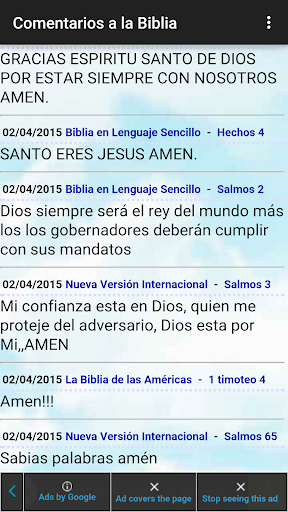 Comentarios a la Biblia