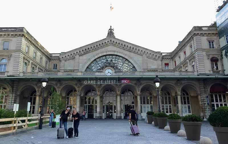 パリメーデーデモの場所・メトロの閉鎖駅(パリ東駅)