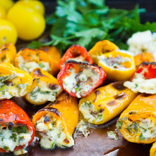 Mini Zesty Feta Stuffed Peppers.