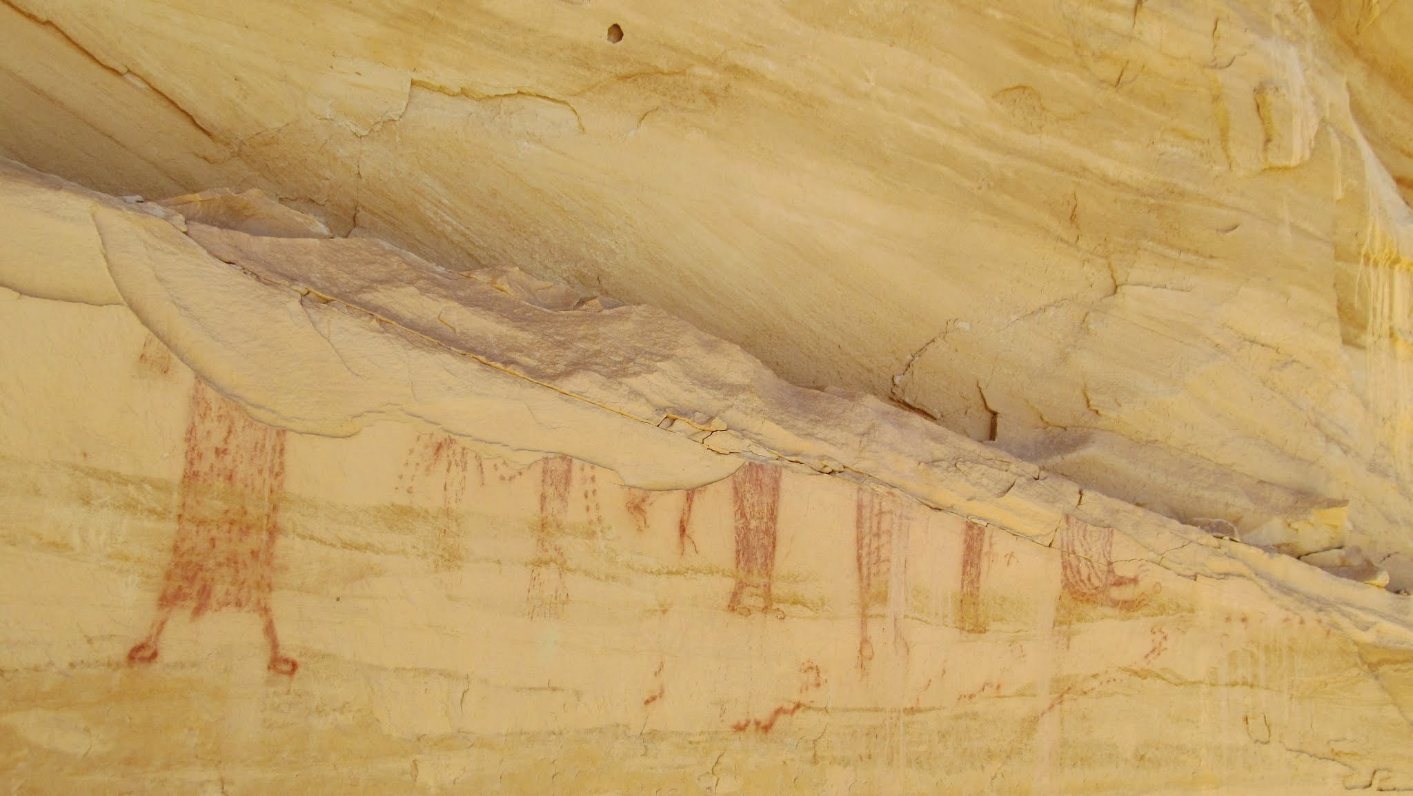 Photo: Locomotive Point pictographs
