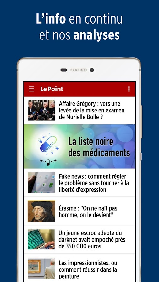 le point journal d actualit s info en continu android apps on google play. Black Bedroom Furniture Sets. Home Design Ideas