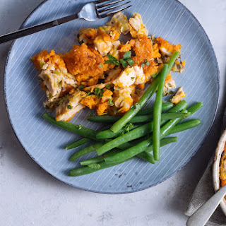 Hot Smoked Salmon Fish Pie with Carrot Mash Recipe