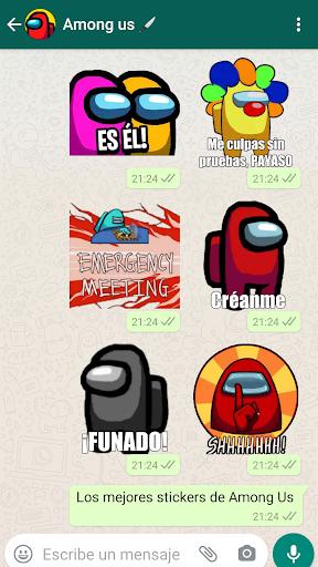 🚀 Stickers de Among Us para WhatsApp screenshot 2