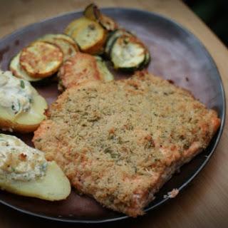 Herb crusted Saltstone Salmon