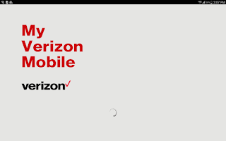 Screenshot of My Verizon Mobile for Tablets