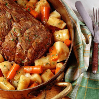 Dutch Oven Pot Roast with Vegetables and Herbs