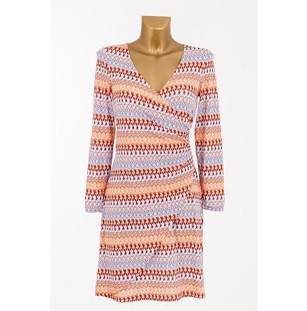 Easy Wrapped Jersey Dress Orange - Pernilla Wahlgren