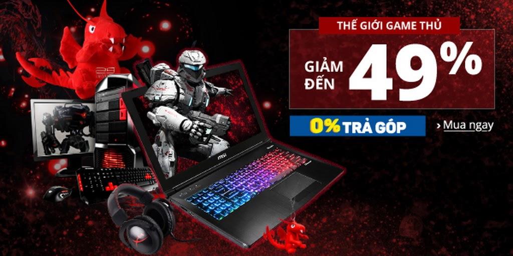 Laptop MSI chơi game chuyên nghiệp, cấu hình khủng, giá tầm trung