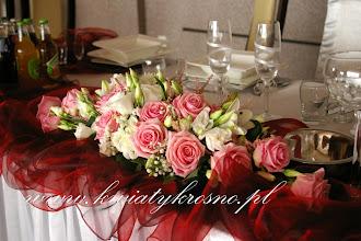 Photo: Dekoracja stołu Pary Młodej - sala weselna Dwa Serca