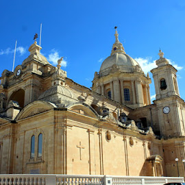 the Parish Church at Nadur Gozo by Ivor Evans - Buildings & Architecture Places of Worship ( mediterranean, island, church, architecture, religion )