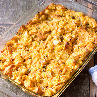 Savory Pumpkin Bread Pudding