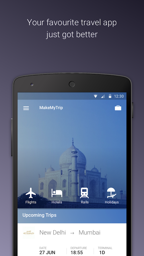 MakeMyTrip-Flights Hotel IRCTC- screenshot