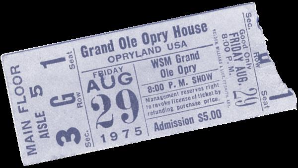 Grand Ole Opry Housen pääsylippu