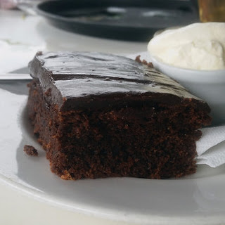 Chocolate Cake with Chocolate Sour Cream Frosting