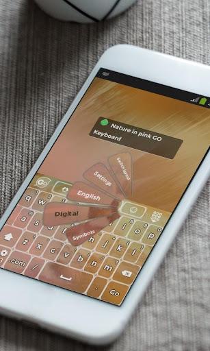 玩免費個人化APP|下載ピンクの自然 GO Keyboard app不用錢|硬是要APP