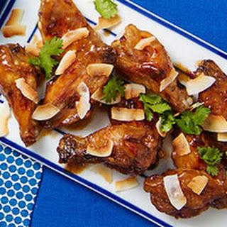 Thai Peanut Chicken Wings.