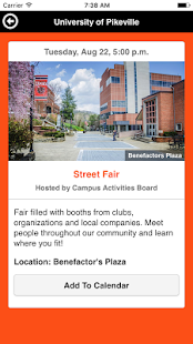UPIKE Campus Events - náhled