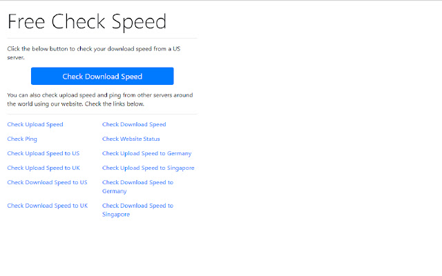 Free Speed Check