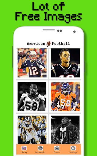 American Football Player Color By Number - Pixel apktram screenshots 2