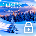 Snow Village Winter Frost Nature PIN AppLock icon
