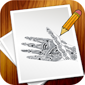 How To Draw Mehndi Design Step