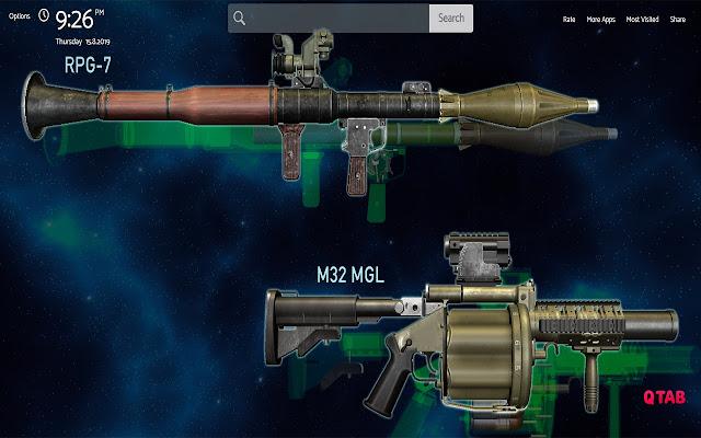 Guns Wallpapers Theme New Tab