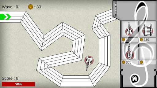 TourMusicDefense Hero 1.0 screenshots 2