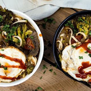 Beef and Broccoli Ramen Noodles.