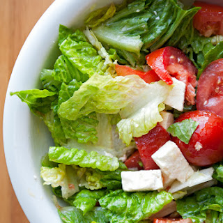 Easy Peasy Romaine Lettuce Salad.