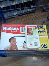 Photo: Here's our shopping cart so far! I also picked up a Huggies wipe case. Love those things!