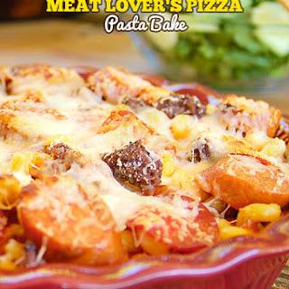 Meat Lover's Pizza Pasta Bake