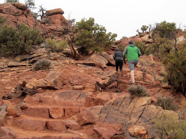 Upheaval Dome trail