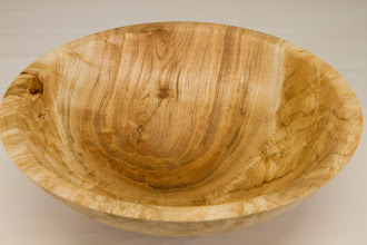 "Photo: Tim Aley 9"" x 3""  bowl [maple burl]"