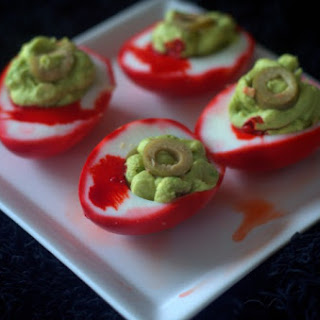 Zombie Eye Deviled Eggs