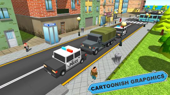 Blocky Vegas Crime Simulator:Prisoner Survival Bus 6