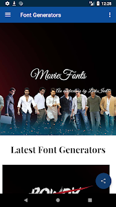 Movie Fonts : Movies Style Name Generator 1 9 + (AdFree) APK for Android