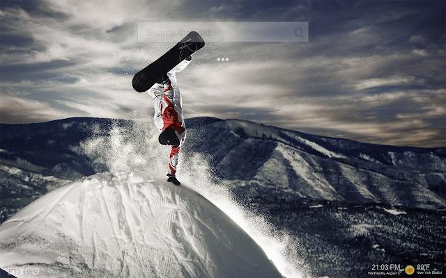 Snowboarding HD NewTab