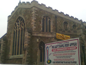 Photo: The local St Marys parish church, always looking for finance, asking for help with the roof.