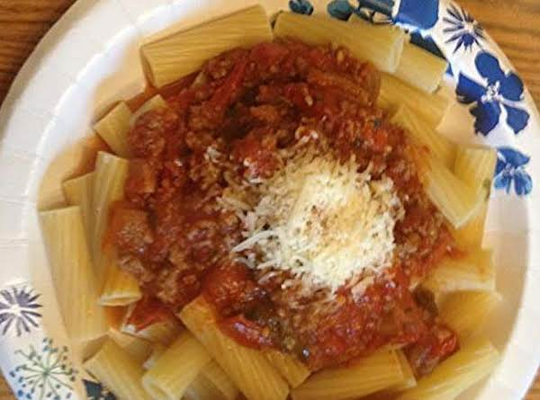 Fresh Tomato Sauce And Rigatoni Recipe