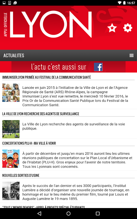 Lyon - Application officielle- screenshot