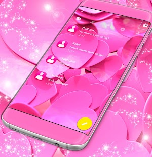 Pink Love SMS Theme - náhled