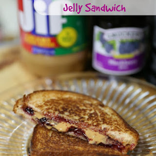 Grilled Peanut Butter and Jelly Sandwich.