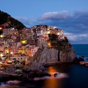 Manarola, Cinque Terre by Terry Scussel - Landscapes Travel ( cinque terre, manarola, manarola sunset )